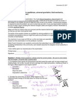 Exam4 Phy113 F07 Final- Key