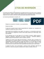 Proyectos de Inversión; Importancia; Fases