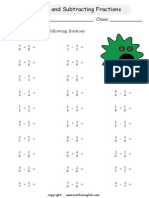 Additionsubtractionfractions(I)