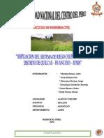 """""""Ampliacion Del Sistema de Riego Colpar - Llacta, Distrito de Quilcas – Huancayo – Junin"""""""