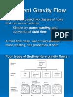 Sedimentary Gravity Flow Types