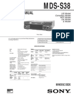 Sony MDS-S38 Service Manual