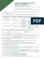 Jadwal Juli-Desember 2014-UNP Padang