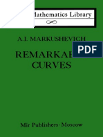 Remarkable Curves - Markushevich, A. i