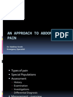 Approach to Abdominal Pain in the Ed