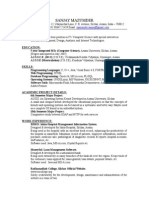 Resume Live Example