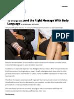 18 Ways to Make Your Body Speak the Language of Success _ Inc