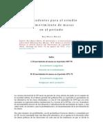 Antecedentes para el estudio del movimiento de masas en el periodo. Ruy Mauro Marini