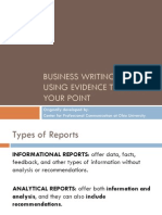 Using Evidence 386 Presentation