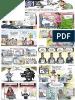 Joe Heller's national cartoons of 2014