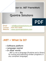 Introduction to .Net FrameWork by Quontra Solutions