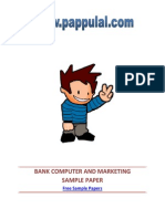 Bank Computer and Marketing Sample Paper