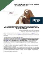 Quinto Centenario Del Nacimiento de Santa Teresa de Jesus, 1515-2015