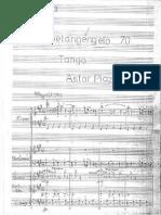 Astor Piazzolla - Michelangelo 70 - Partitura
