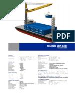 Damen Crane Barge 6324 YN240390 Container