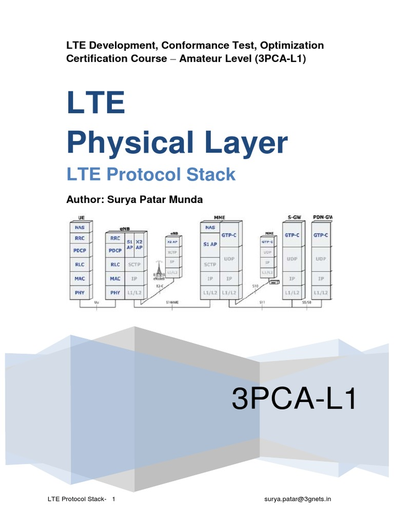 LTE Protocol Stack Physical Layer   Orthogonal Frequency