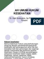 Masalah Umum Hukum Kesehatan