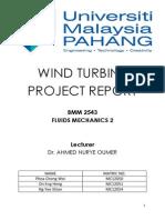 Wind Turbine Project Report