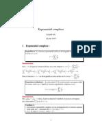 Exponentiel complexe