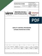Cathodic Protection - Quality Control Procedure