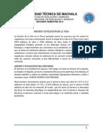 ORIGEN Y EVOLUCION DE LA VIDA Universidad Técnica de Machala 44