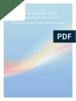 Informe de Gestionen 2014 Dirección General Planificación y Desarrollo del Municipio de Centenario
