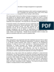 A Conceptual Paper on the Effect of Change Management