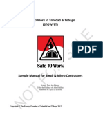 Sample Manual for Small Micro Contractors