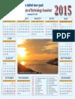 IITG Calendar 2015