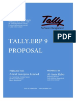 Tally.erp 9 Proposal for Business Organization
