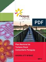 PLAN NACIONAL DE TURISMO RURAL COMUNITARIO PARAGUAY - 2013 - SENATUR - PORTALGUARANI