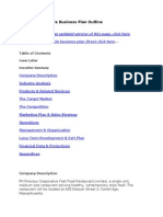 Feasibility Study - Restaurant Sample Business Plan Outline