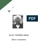 Eloy Terrón Biografía y obra