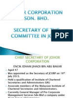 Secretary of Johor Corporation
