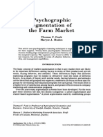 Psychographic Segmentation Farmmarket