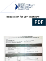 Preparation for SPP Interview
