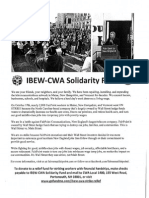 IBEW-CWA Solidarity Fund for FairPoint Strikers
