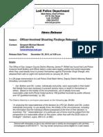 News ReleasLodi police release findings in Parminder Shergill shootinge-Shergill OIS-DA Report
