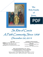 Saint Rita Parish Bulletin 12/28/2014