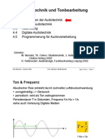 Audio Technik Grundlagen