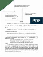 AstraZeneca AB v. Aurobindo Pharma Ltd., et al., Consol. C.A. No. 14-664-GMS (D. Del. Dec. 17, 2014).