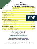 2015 ABSC DR Training Schedule
