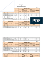 B.E. Mechanical Course Structure 2014
