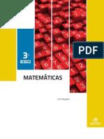 Solucionario Mat 3 Eso- EDITEX