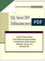 Clase 02 Conceptos Previos SQL Server 2005 [Modo de Compatibilidad]-
