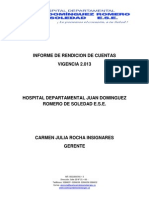Informe Rendición de Cuentas2013