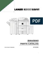 Manual de partes aficio 1060/1075