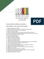 lista de los 200 libros bicentenario bolivia