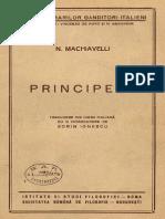 N. Machiavelli – Principele