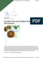 Zuchini Cakes